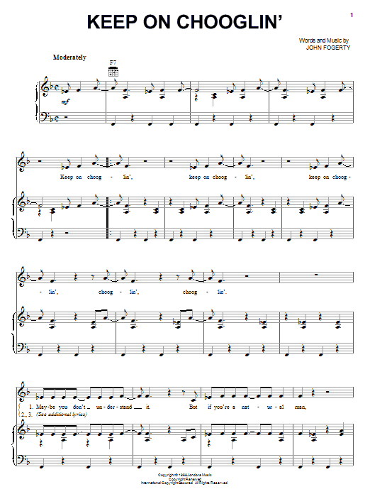 Keep On Chooglin' Sheet Music