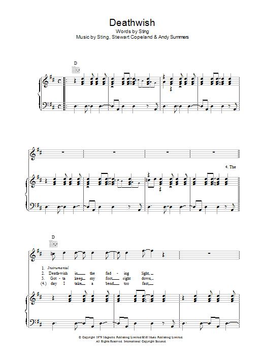 Deathwish Sheet Music
