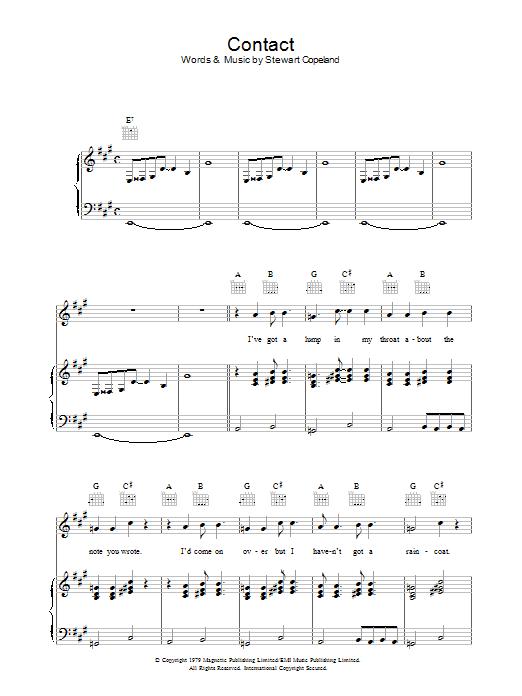 Contact (Piano, Vocal & Guitar)