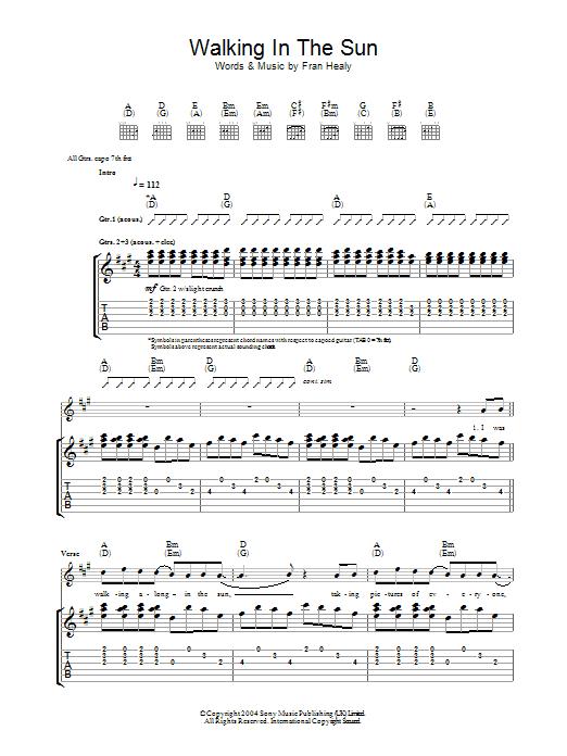 Walking In The Sun (Guitar Tab)