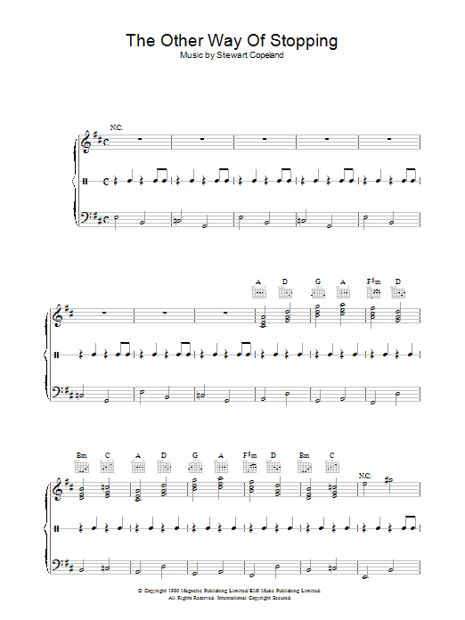 The Other Way Of Stopping Sheet Music
