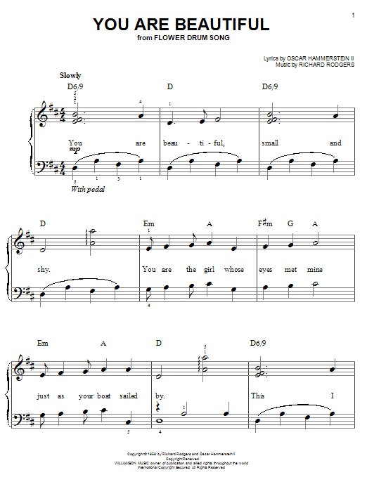 You Are Beautiful Sheet Music