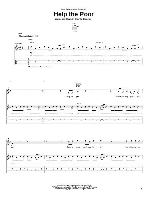 Help The Poor (Guitar Tab)
