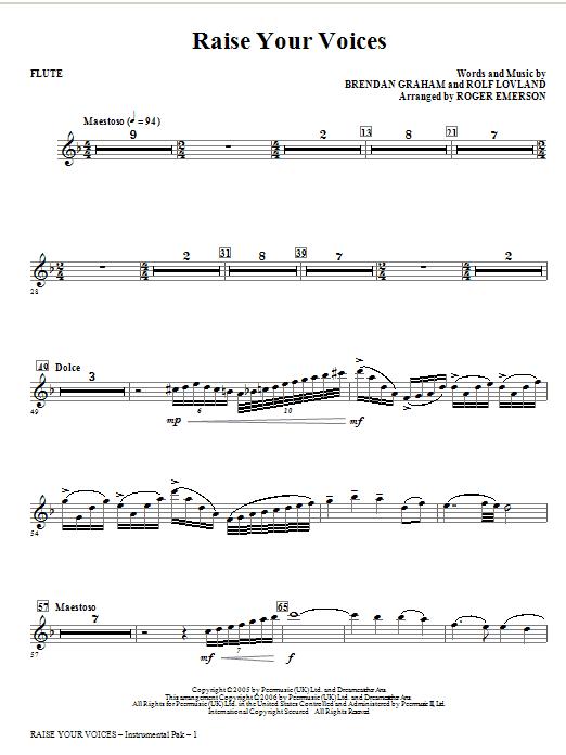 Raise Your Voices - Flute Sheet Music
