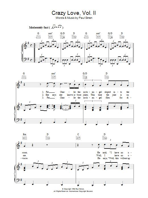 Crazy Love Vol. II (Piano, Vocal & Guitar)