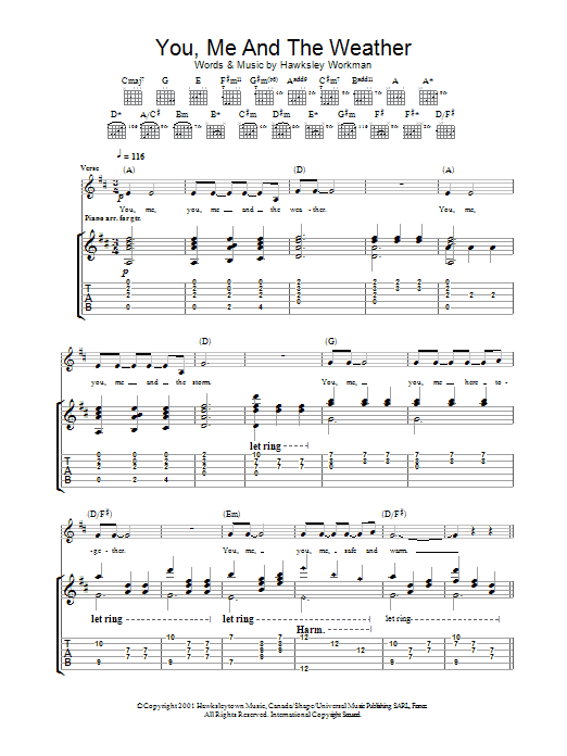 You Me And The Weather (Guitar Tab)
