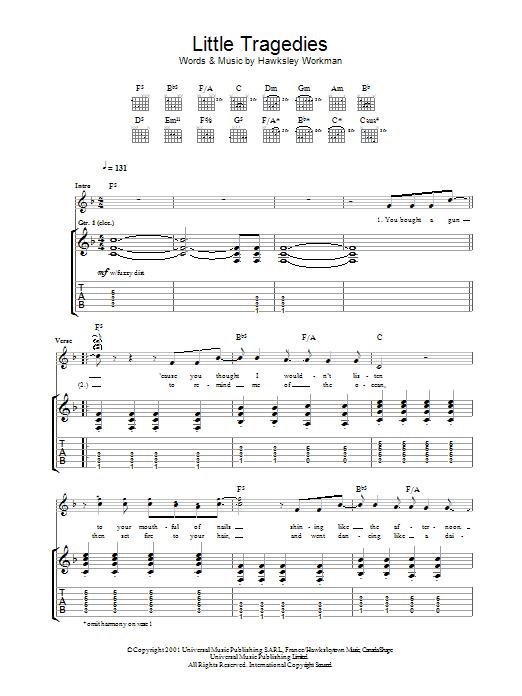 Little Tragedies (Guitar Tab)
