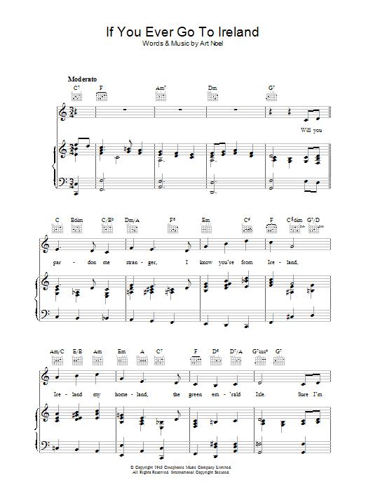 If You Ever Go To Ireland (Piano, Vocal & Guitar)