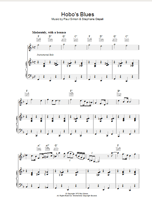 Hobo's Blues Sheet Music