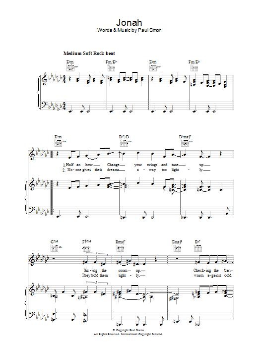 Jonah Sheet Music