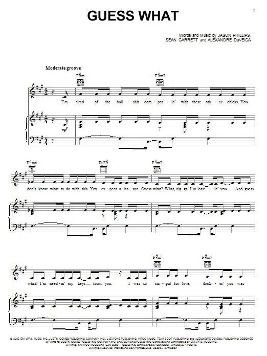 Guess What Sheet Music