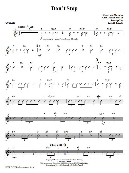 Don't Stop - Guitar (Choir Instrumental Pak)