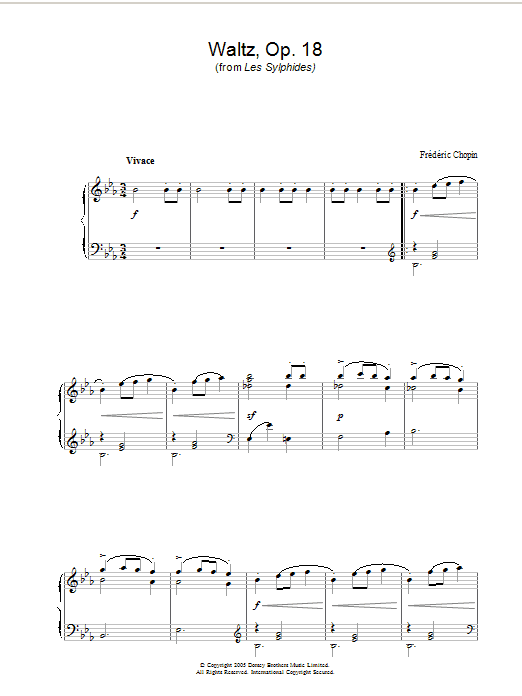 Waltz Op.18 (from Les Sylphides) Sheet Music