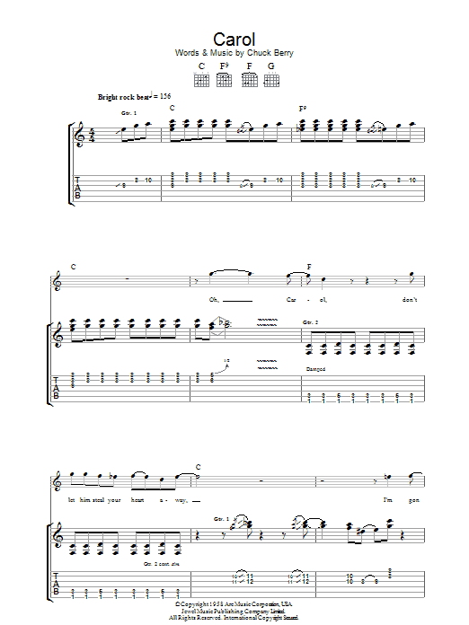 Carol (Guitar Tab)
