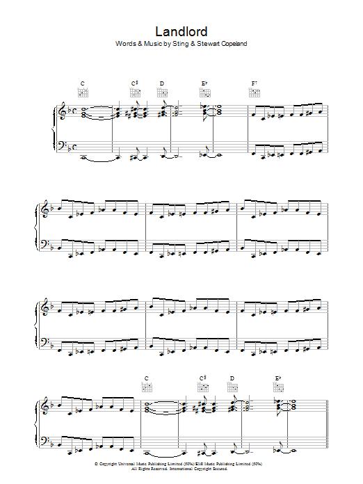 Landlord (Piano, Vocal & Guitar)