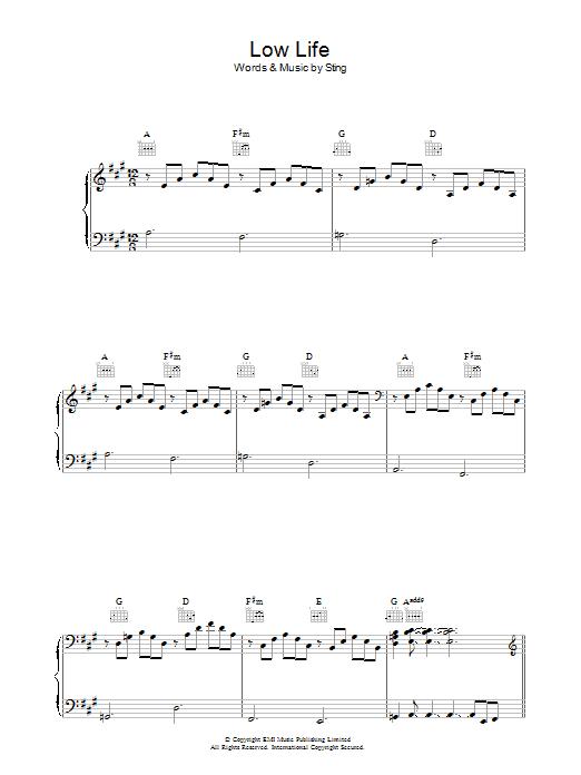 Low Life (Piano, Vocal & Guitar)