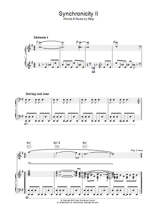 Synchronicity II Sheet Music