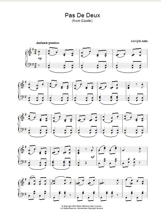 Pas De Deux (Piano Solo)