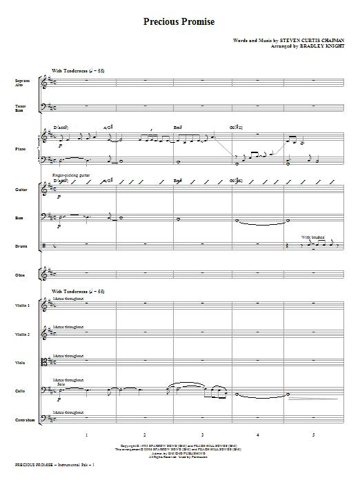 Precious Promise - Score (Choir Instrumental Pak)