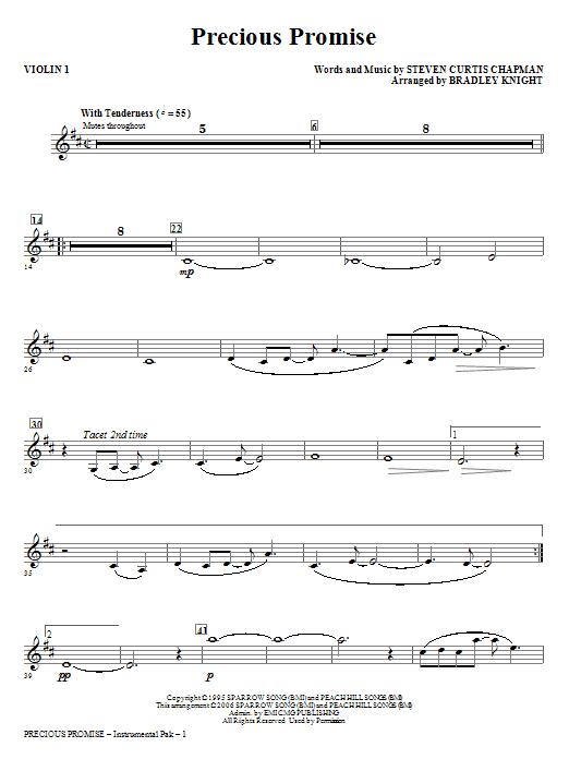 Precious Promise - Violin 1 Sheet Music