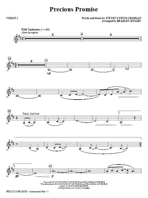 Precious Promise - Violin 2 (Choir Instrumental Pak)