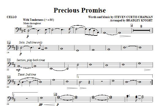 Precious Promise - Cello (Choir Instrumental Pak)