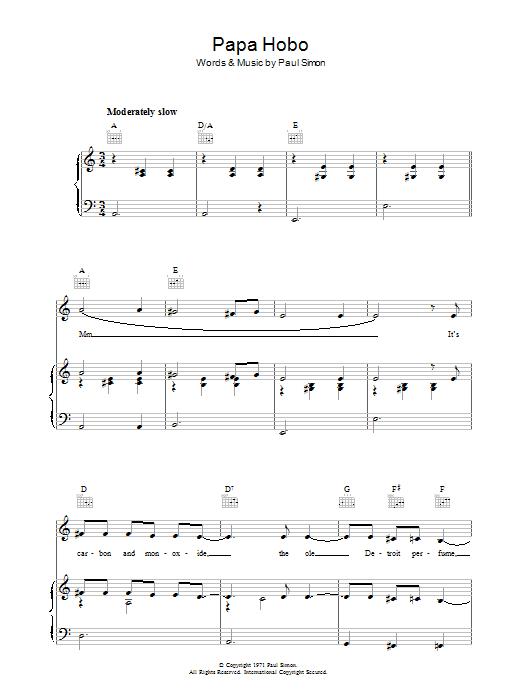 Papa Hobo (Piano, Vocal & Guitar)