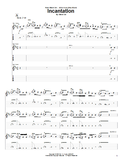 Incantation Sheet Music