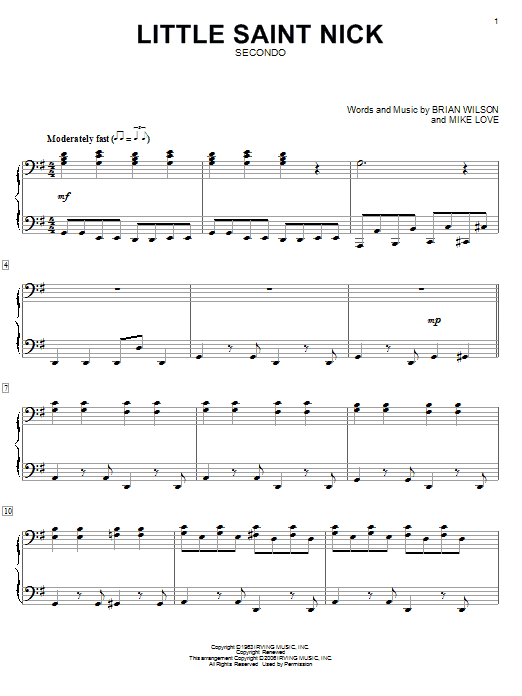 Little Saint Nick Sheet Music