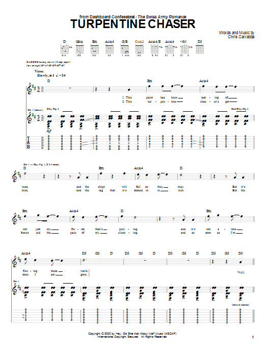 Turpentine Chaser Sheet Music