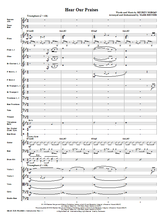 Hear Our Praises - Full Score Sheet Music