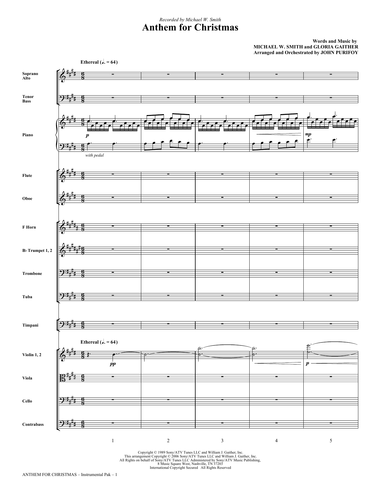 Anthem for Christmas - Full Score Sheet Music