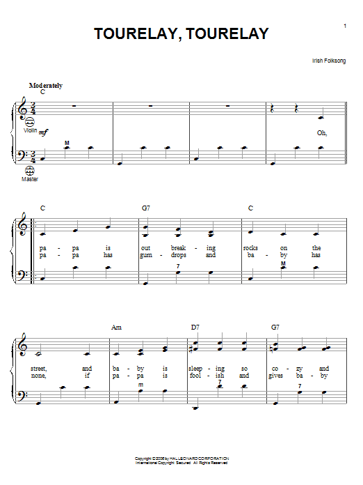 Tourelay, Tourelay Sheet Music
