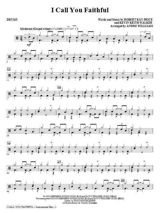 I Call You Faithful - Drums Sheet Music