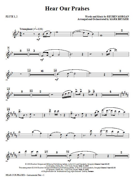 Hear Our Praises - Flute 1,2 Sheet Music