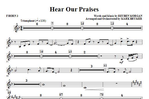 Hear Our Praises - F Horn 3 Sheet Music