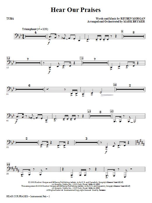 Hear Our Praises - Tuba Sheet Music