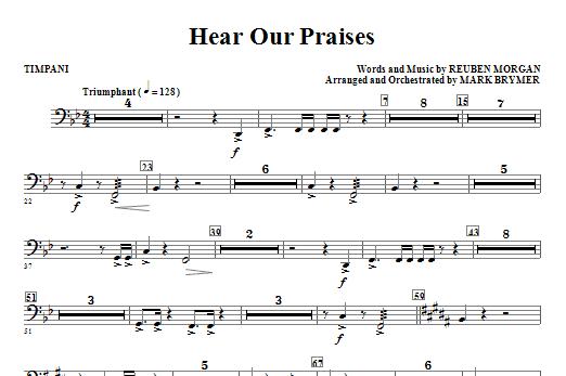 Hear Our Praises - Timpani Sheet Music