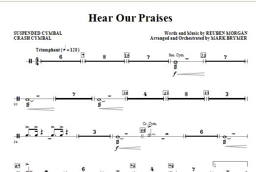 Hear Our Praises - Cymbals Sheet Music