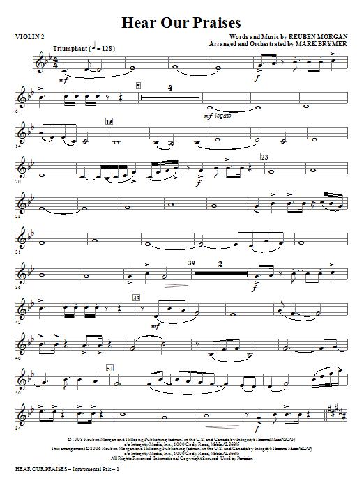 Hear Our Praises - Violin 2 Sheet Music