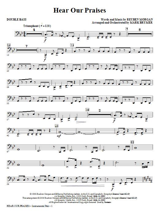Hear Our Praises - Double Bass Sheet Music