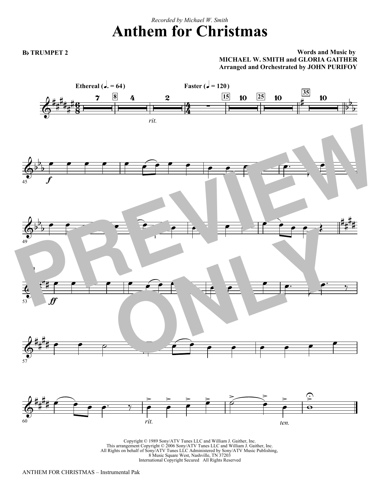 Anthem for Christmas - Bb Trumpet 2 Sheet Music