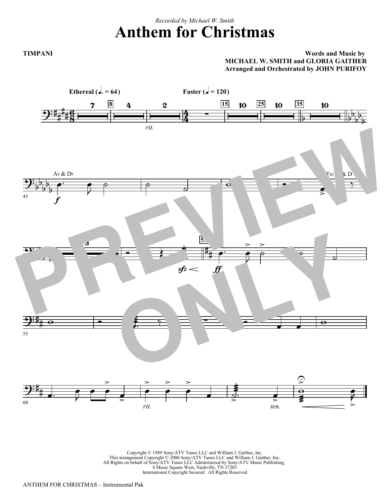Anthem for Christmas - Timpani Sheet Music