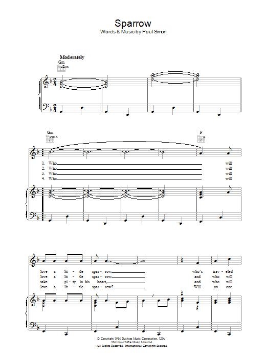 Sparrow Sheet Music