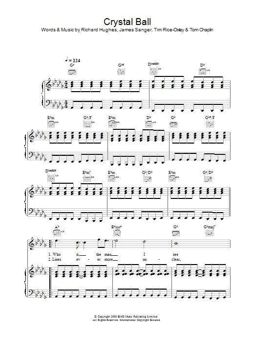 Crystal Ball (Piano, Vocal & Guitar)