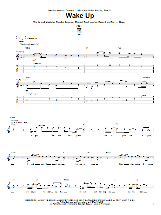 Wake Up Sheet Music