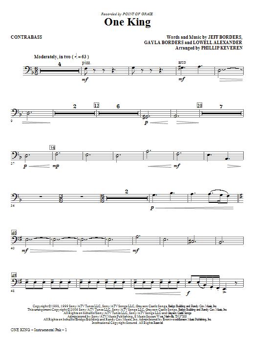 One King - Contrabass Sheet Music