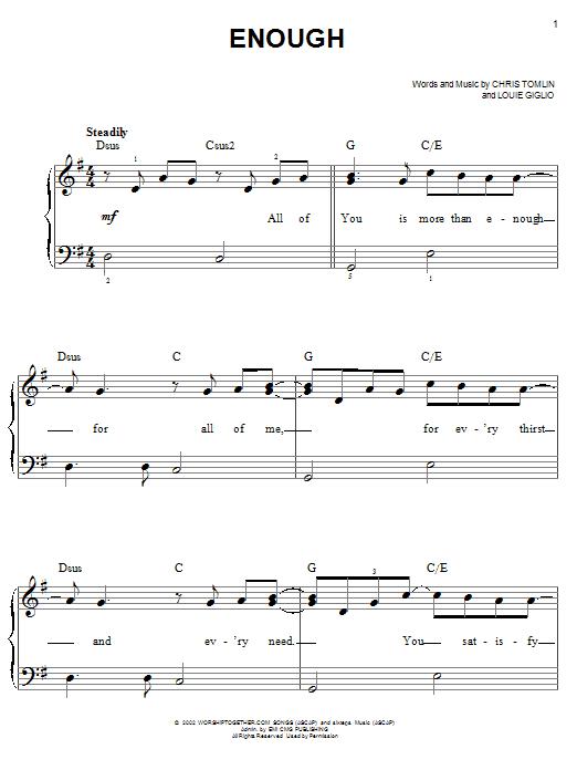 Enough (Easy Piano)