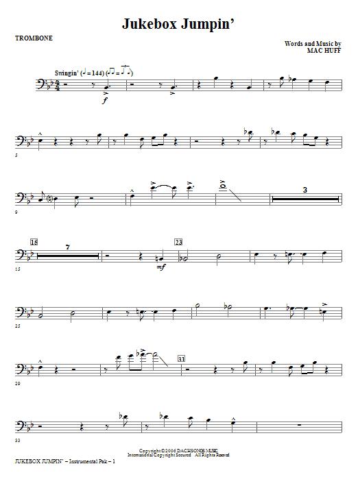 Jukebox Jumpin' - Trombone (Choir Instrumental Pak)