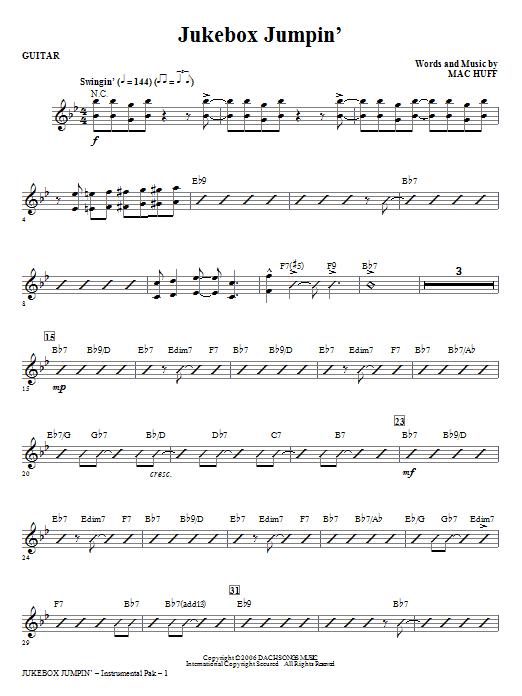 Jukebox Jumpin' - Guitar (Choir Instrumental Pak)